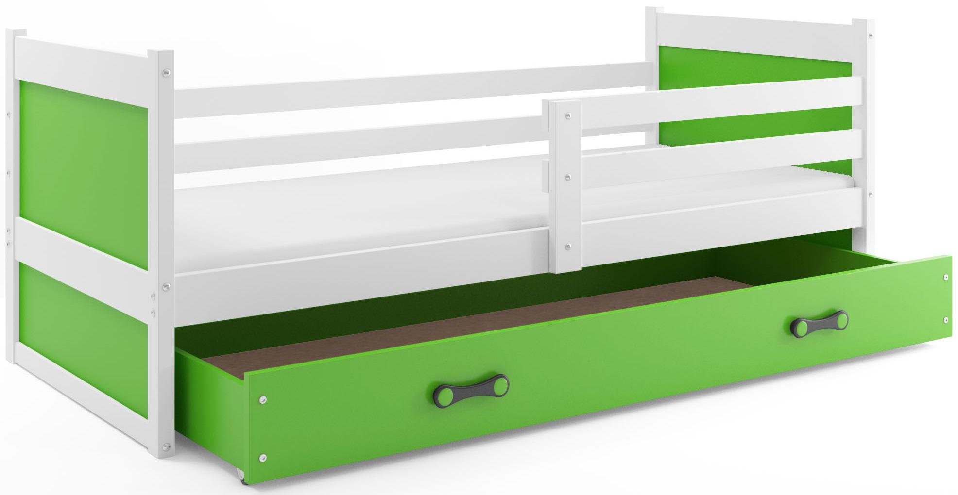 BMS Detská posteľ RICO 1 / BIELA 200x90 Farba: Modrá - do vypredania zásob