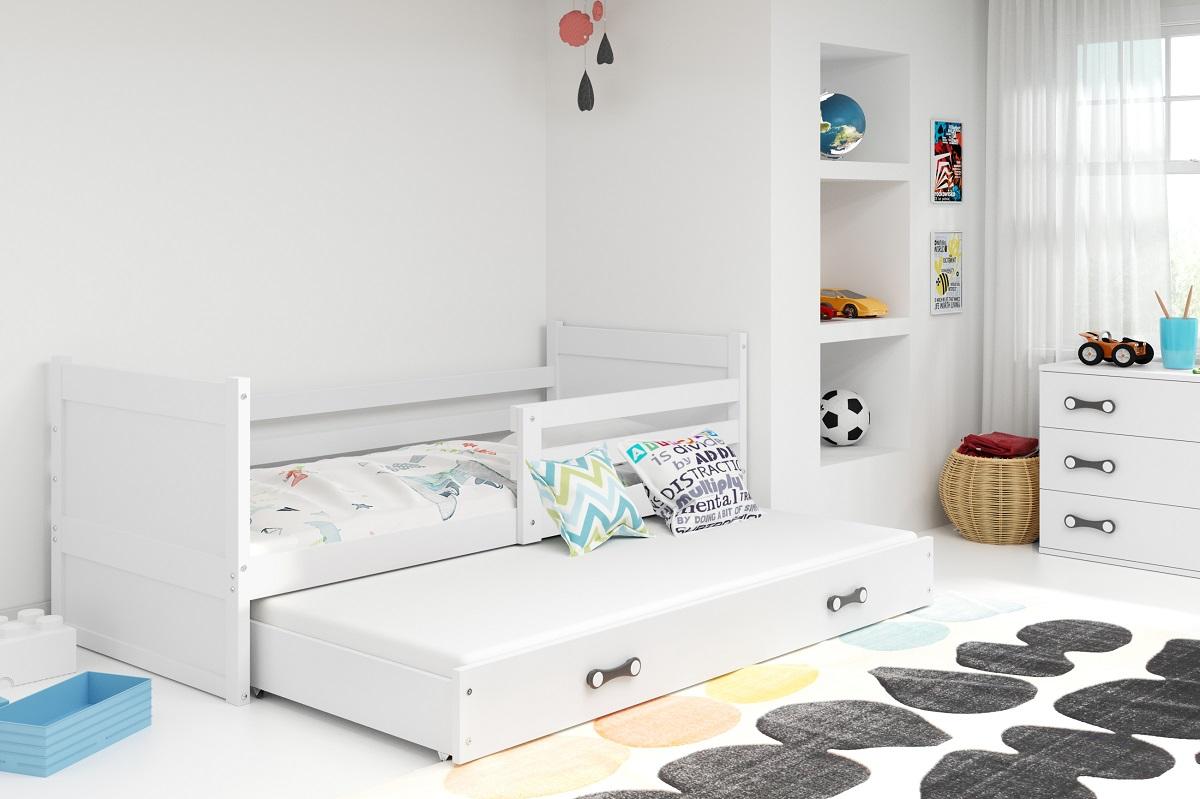 BMS Detská posteľ RICO 2 / BIELA 200x90 Farba: Zelená - do vypredania zásob