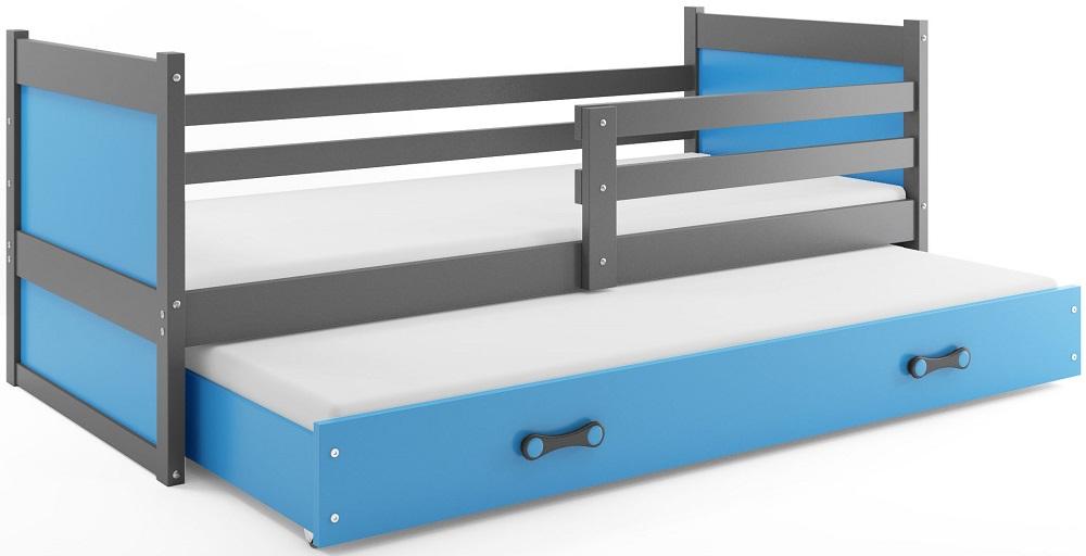 BMS Detská posteľ RICO 2 / SIVÁ 200x90 Farba: Sivá - do vypredania zásob