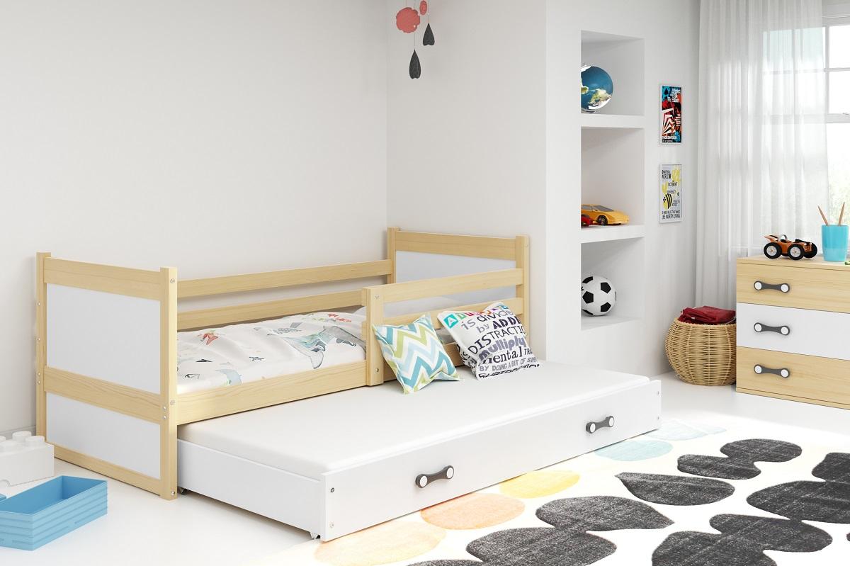 BMS Detská posteľ RICO 2 / BOROVICA 200x90 Farba: Biela