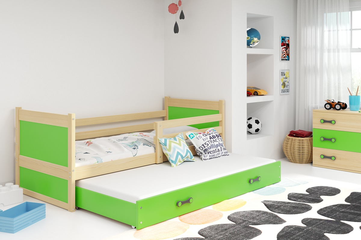 BMS Detská posteľ RICO 2 / BOROVICA 200x90 Farba: Zelená