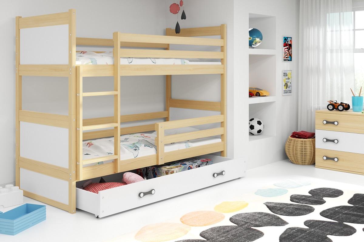 BMS Detská poschodová posteľ RICO / BOROVICA 160x80 Farba: Modrá - do vypredania zásob