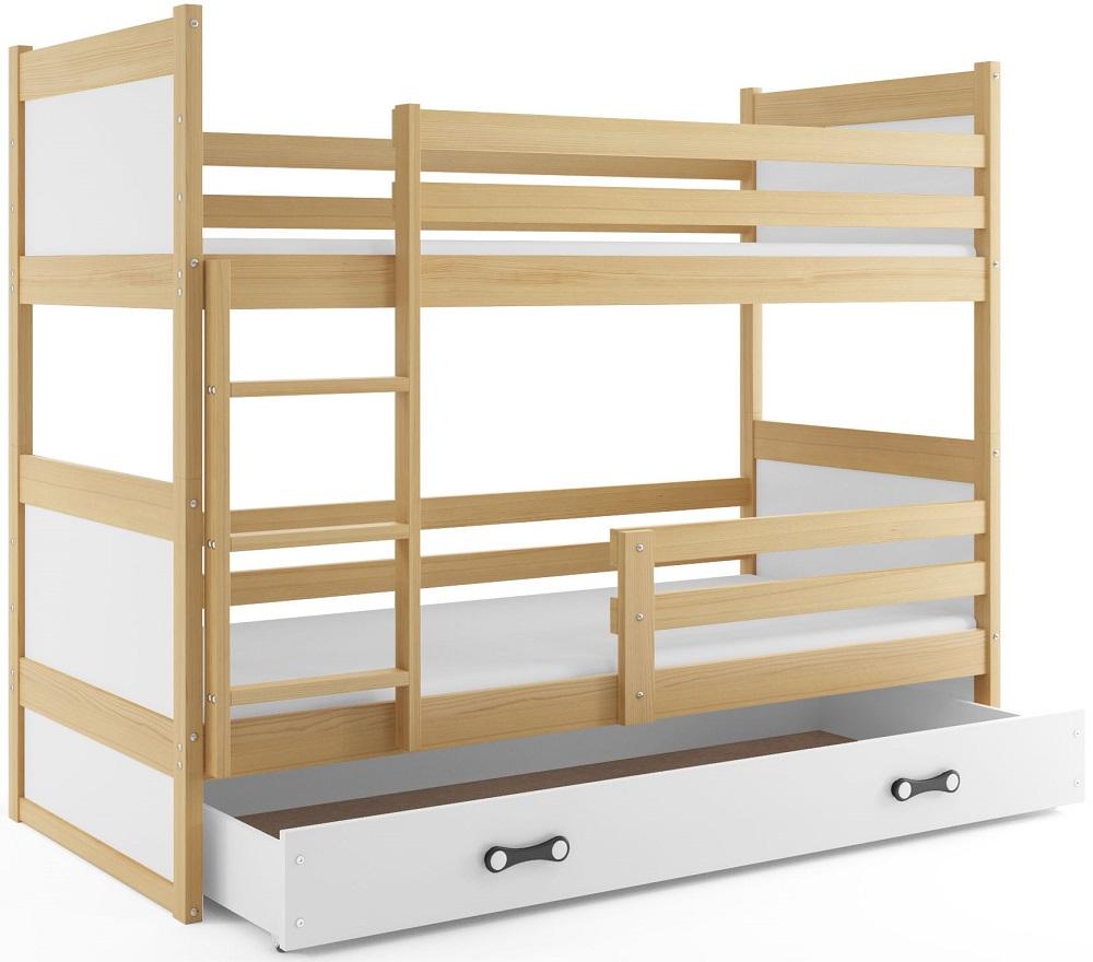 BMS Detská poschodová posteľ RICO / BOROVICA 200x90 Farba: Modrá