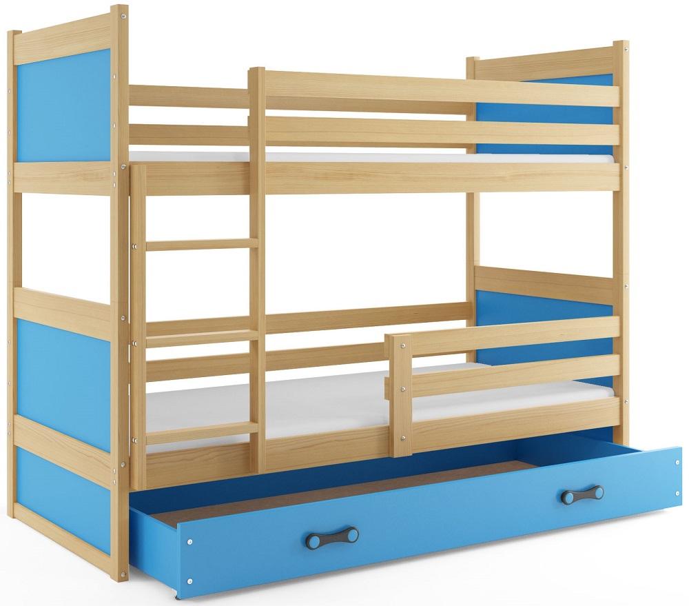 BMS Detská poschodová posteľ RICO / BOROVICA 200x90 Farba: Biela