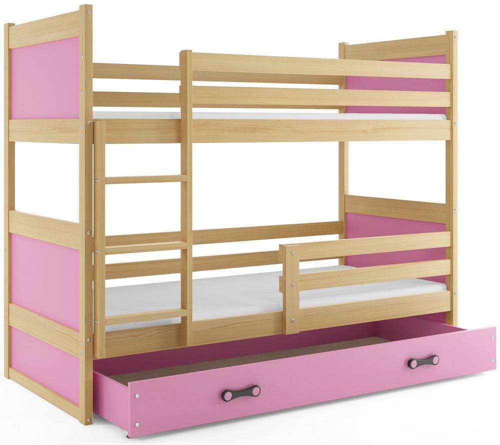 BMS Detská poschodová posteľ RICO / BOROVICA 200x90 Farba: Fialová