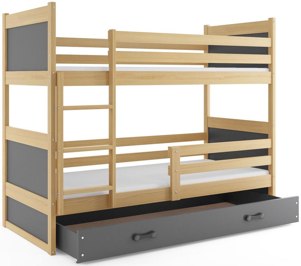BMS Detská poschodová posteľ RICO / BOROVICA 200x90 Farba: Ružová