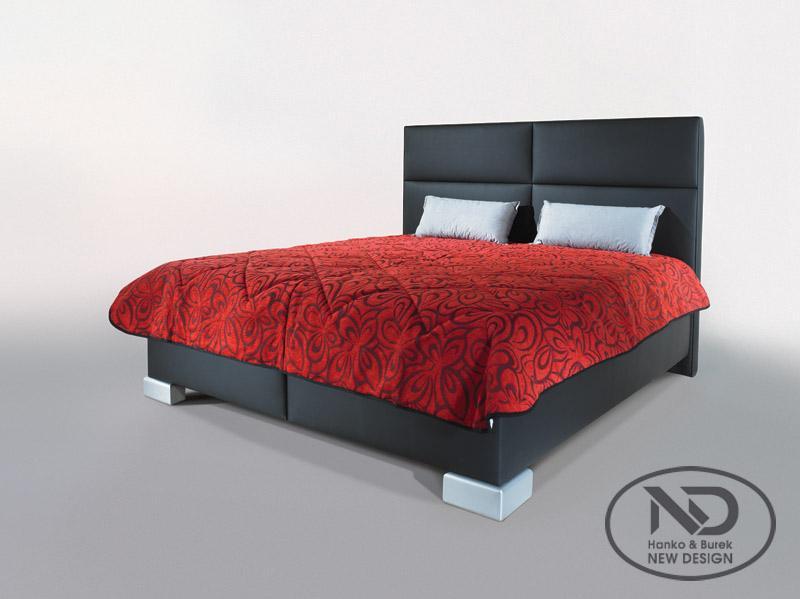 ArtND Manželská posteľ Senti 160 Varianta: s roštom ND4 / s matracom CONTINENTAL
