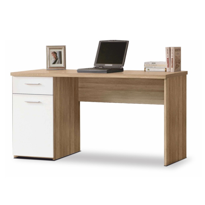 Tempo Kondela PC stôl EGON Farba: Dub sonoma / biela
