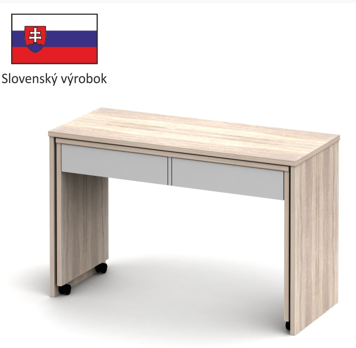 Tempo Kondela PC stôl VERSAL NEW dub sonoma svetlý / biela