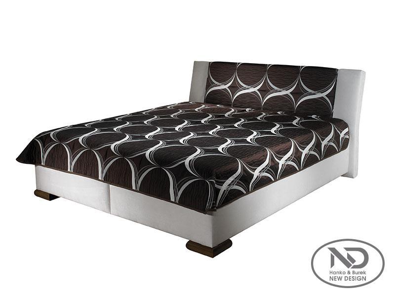 ArtND Manželská posteľ Adele 180 Varianta: s roštom / s matracom BAZI