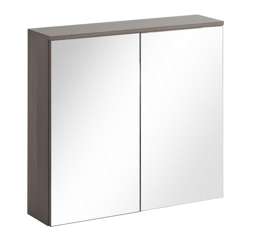 ArtCom Kúpeľňová zostava COSMO   avola sivá Cosmo: Skrinka so zrkadlom Cosmo 80 cm - 841 / (ŠxVxH) 80 x 75 x 20 cm