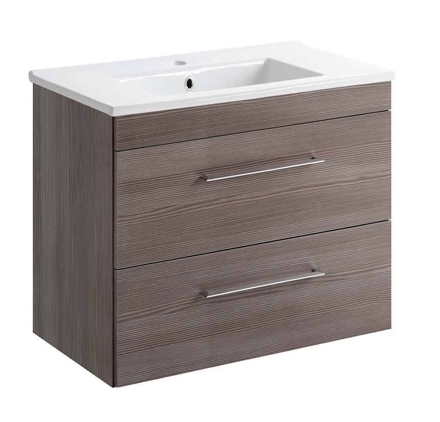 ArtCom Kúpeľňová zostava COSMO   avola sivá Cosmo: Skrinka pod umývadlo Cosmo 60 cm (2S) - 820 / (ŠxVxH) 60 x 57 x 46 cm
