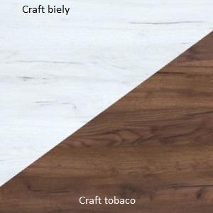 WIP Obývacia stena HUGO II Farba: craft biely / craft tobaco