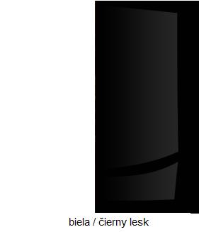 WIP Nadstavec na TV skrinku HUGO 07 Farba: Biela / čierny lesk