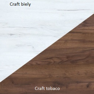 WIP Nadstavec na TV skrinku HUGO 07 Farba: craft biely / craft tobaco