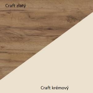 WIP Nadstavec na TV skrinku HUGO 06 Farba: craft zlatý / krémový