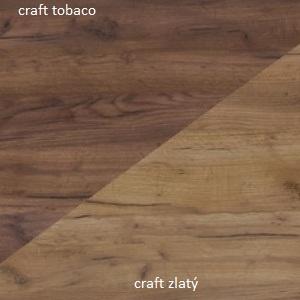 WIP Komoda HUGO 02 Farba: craft zlatý /craft tobaco