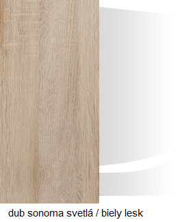 WIP TV skrinka SOLAR SLR 04 Farba: Dub sonoma svetlá / biely lesk