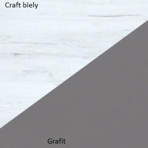 WIP Šatníková skriňa STELLA STE-05 Farba: craft biely / grafit