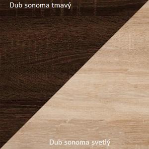 WIP TV stolík VIKI 04 Farba: Dub sonoma svetlá / dub sonoma tmavá