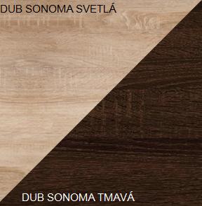 WIP Manželská posteľ VIKI 11 / bez roštu Farba: Dub sonoma svetlá / dub sonoma tmavá