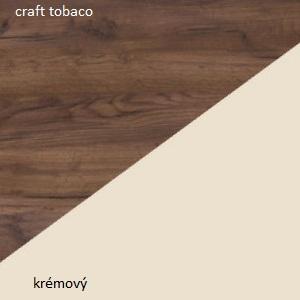 WIP Manželská posteľ VIKI 11 / bez roštu Farba: craft tobaco / krémový