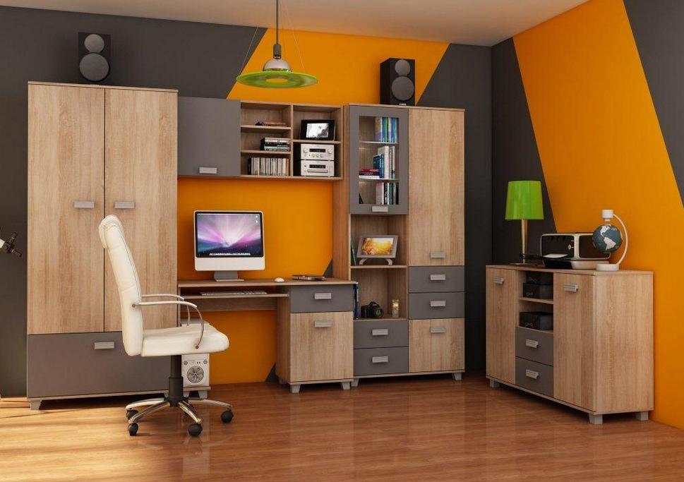 WIP Študentská izba SOLO II Farba: Dub sonoma svetlá / sivý mat