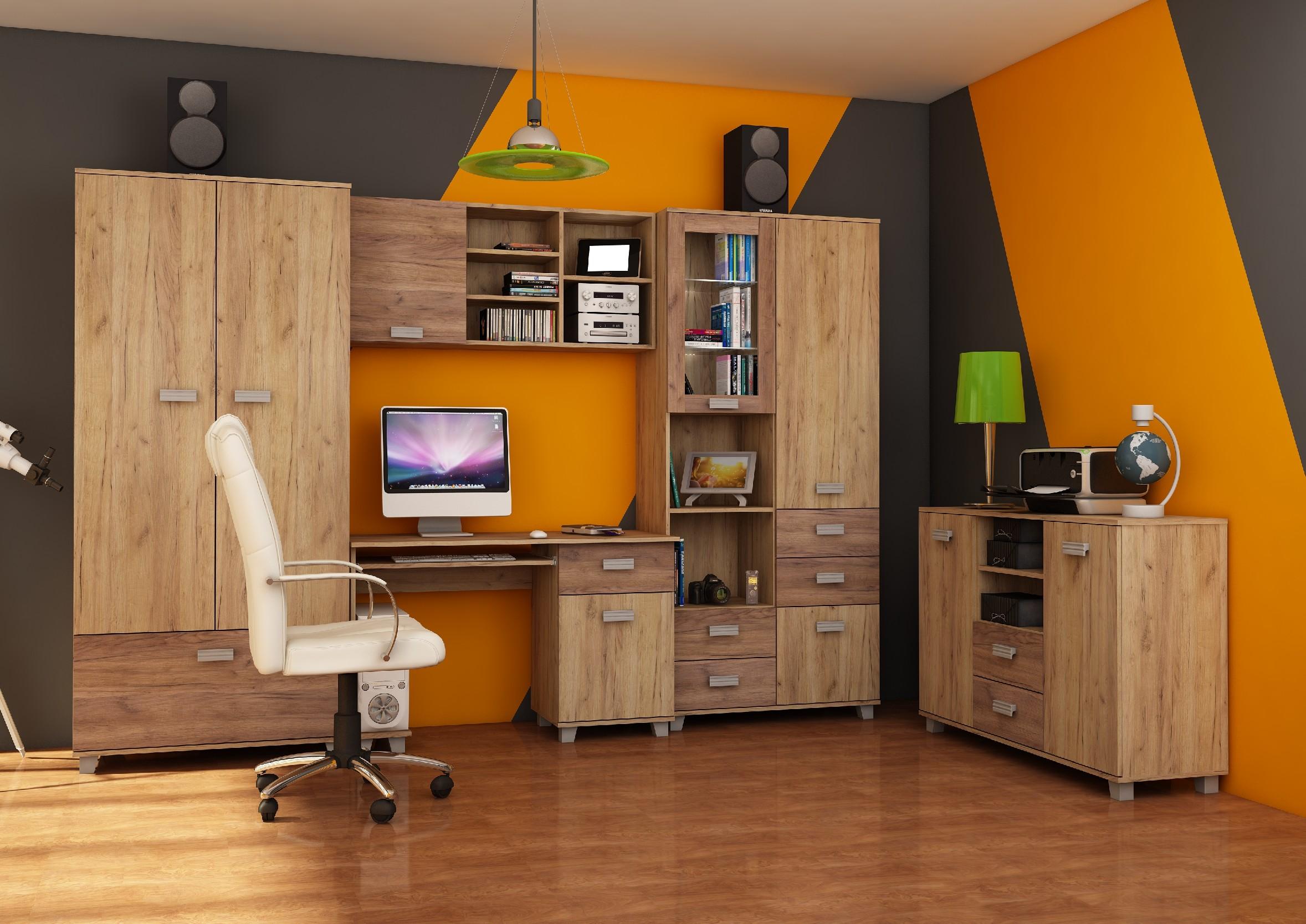 WIP Študentská izba SOLO II Farba: Craft zlatý / craft tobaco