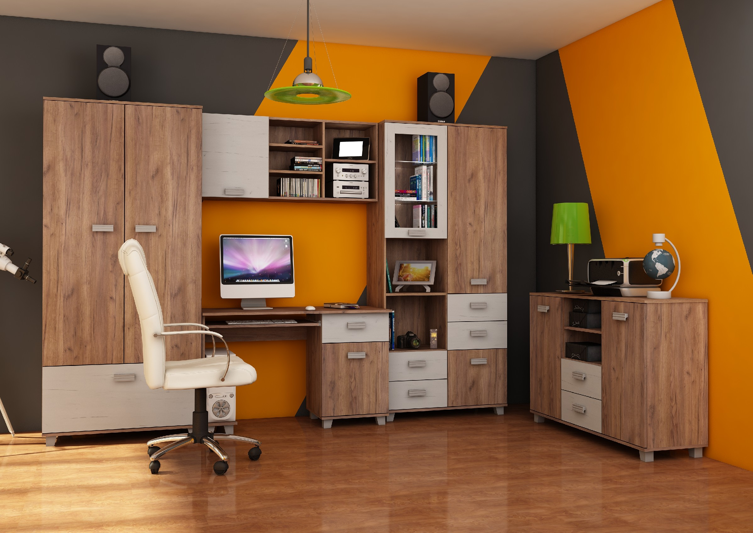 WIP Študentská izba SOLO II Farba: Craft tobaco / craft biely