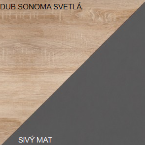 WIP TV stolík SOLO SOL 06 Farba: Dub sonoma svetlá / sivý mat