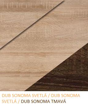 WIP Vitrína NOTTI 08 Farba: Dub sonoma svetlá / dub sonoma svetlá / dub sonoma tmavá