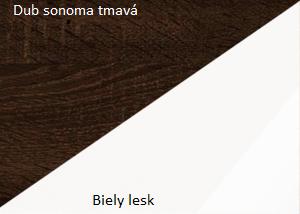 WIP Skriňa MAX 05 Farba: dub sonoma tmavý / biely lesk