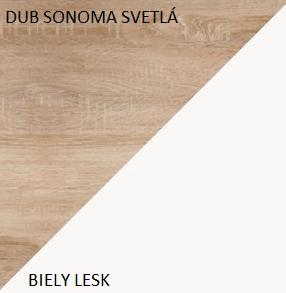 WIP Závesná skrinka MAX 06 Farba: Dub sonoma svetlá / biely lesk