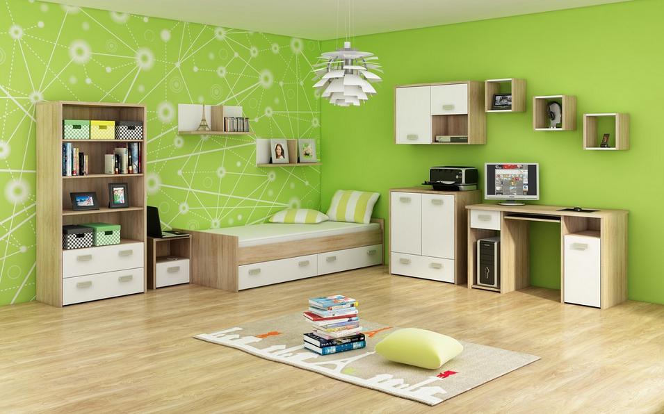 WIP Detská izba KITTY 3 Farba: Dub sonoma svetlá / biela