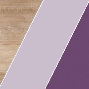WIP Závesná skrinka KITTY 14 Farba: Dub sonoma svetlá / levanduľa / fialová