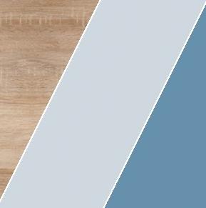 WIP Závesná skrinka KITTY 14 Farba: Dub sonoma svetlá / blankytná / modrá