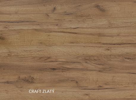 WIP PC stolík KUBA Farba: craft zlatý