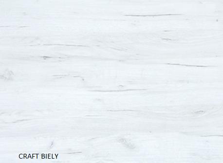 WIP PC stolík KIER Farba: craft biely