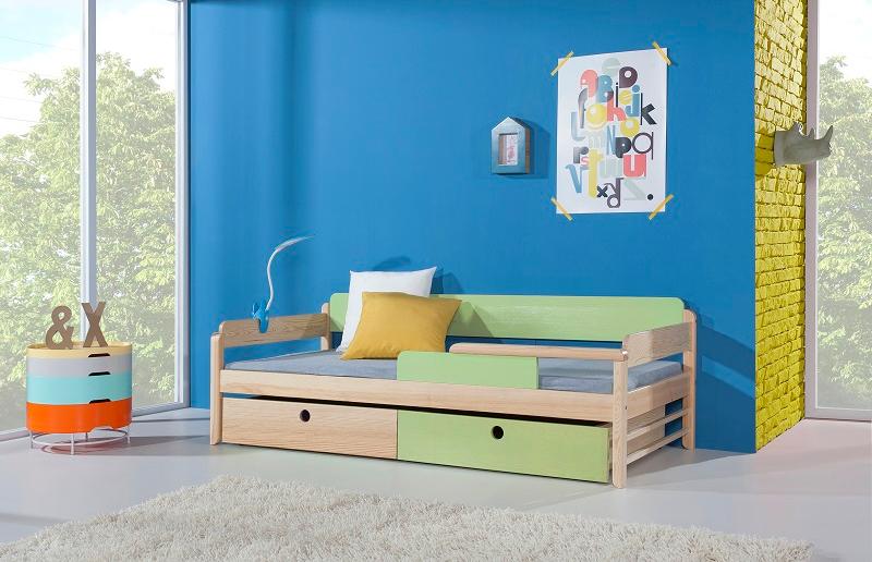 ArtBed Detská drevená posteľ NATU Farba: Modrá
