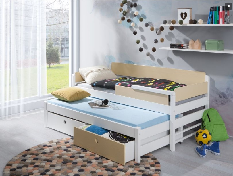 ArtBed Detská drevená posteľ NATU I Farba: Modrá