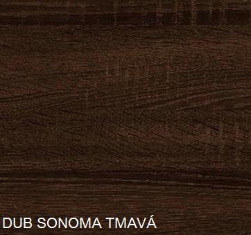 WIP Komoda K-1244S2D Farba: DUb sonoma tmavá