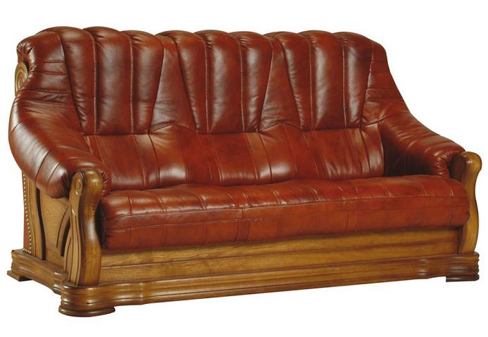 PYKA Kožená sedacia súprava FRYDERYK II Prevedenie: 3-sed / s rozkladom