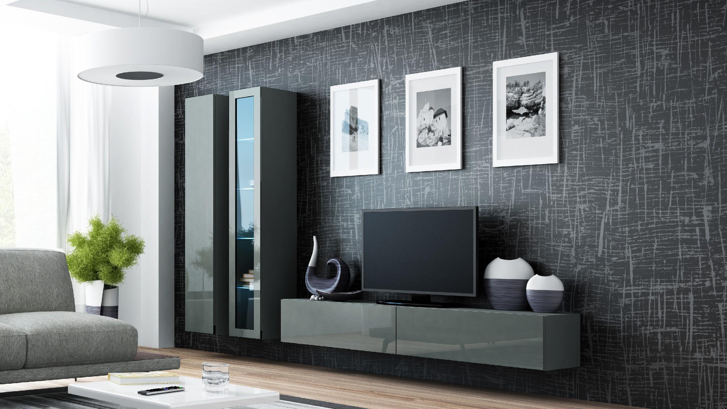 Artcam Obývacia stena VIGO III sivá