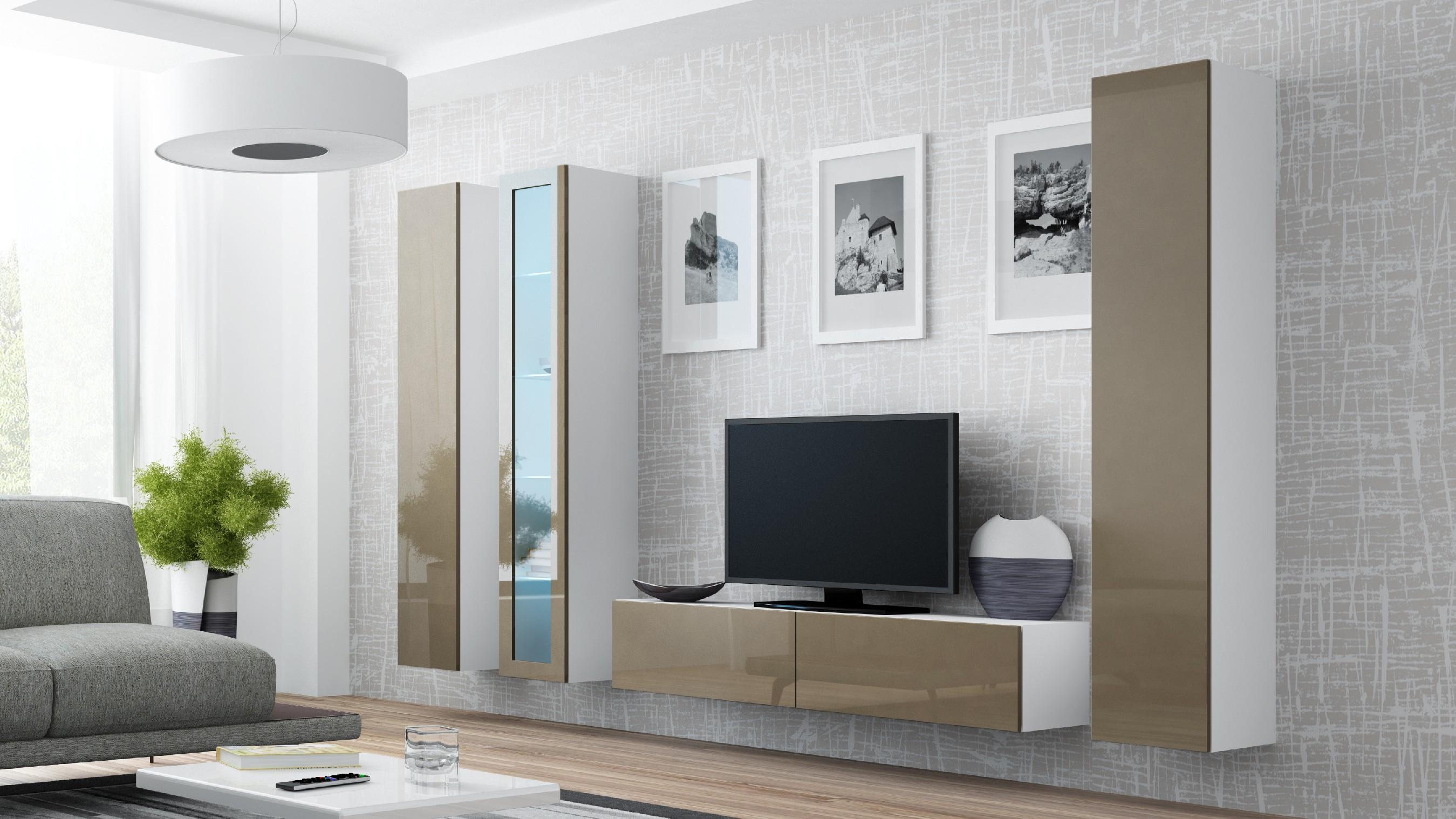 Artcam Obývacia stena VIGO 15 biela / latte