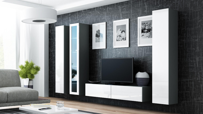 Artcam Obývacia stena VIGO 15 sivá / biela