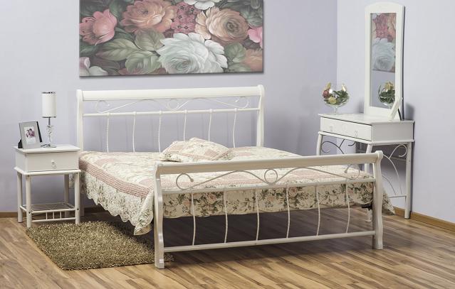 Signal Manželská posteľ VENECJA biela 120x200