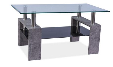 Signal Konferenčný stolík LISA II / sivý kameň