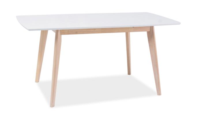 Signal Jedálenský stôl COMBO II Farba: dub bielený / biela