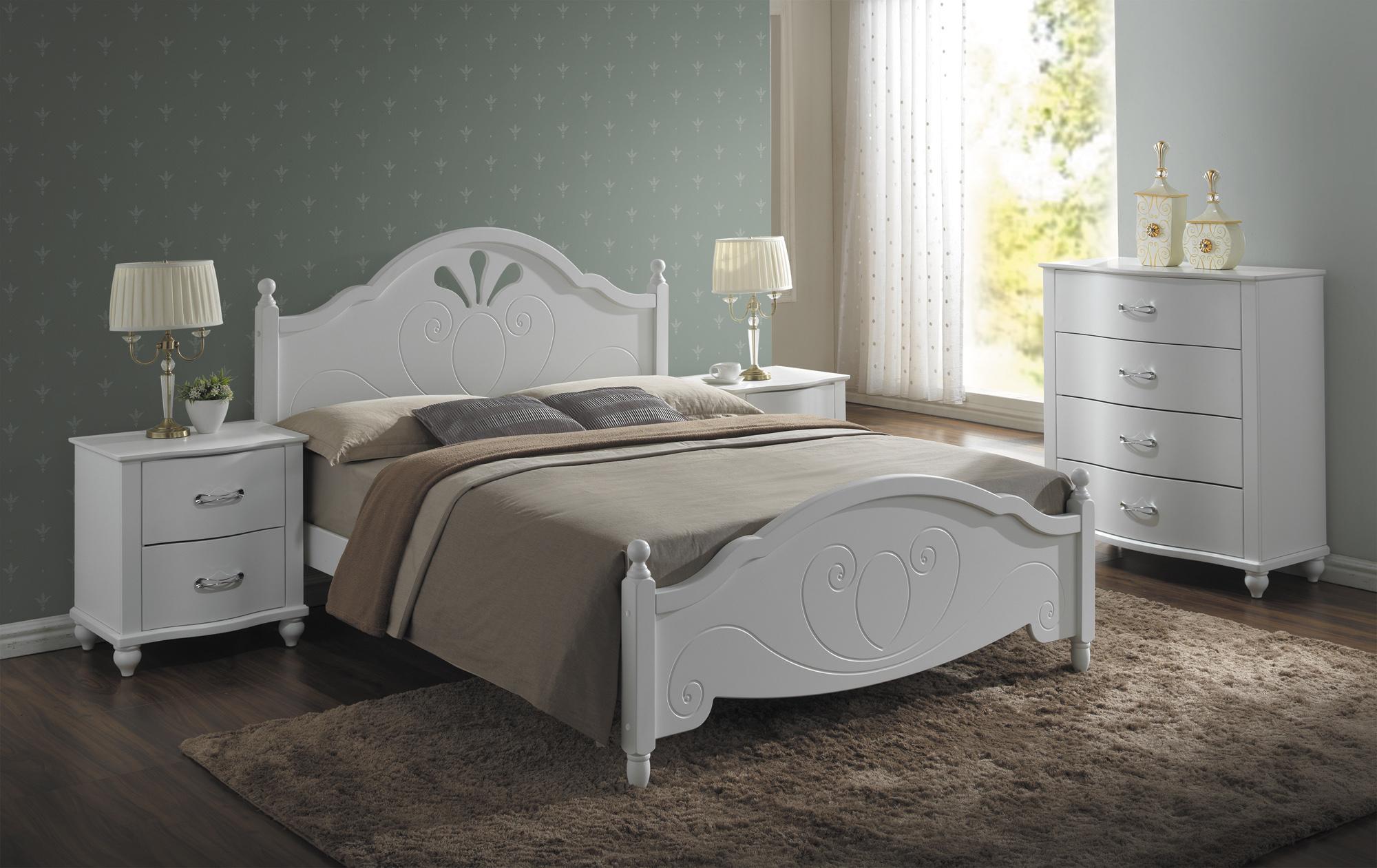 Signal Drevená manželská posteľ MALTA