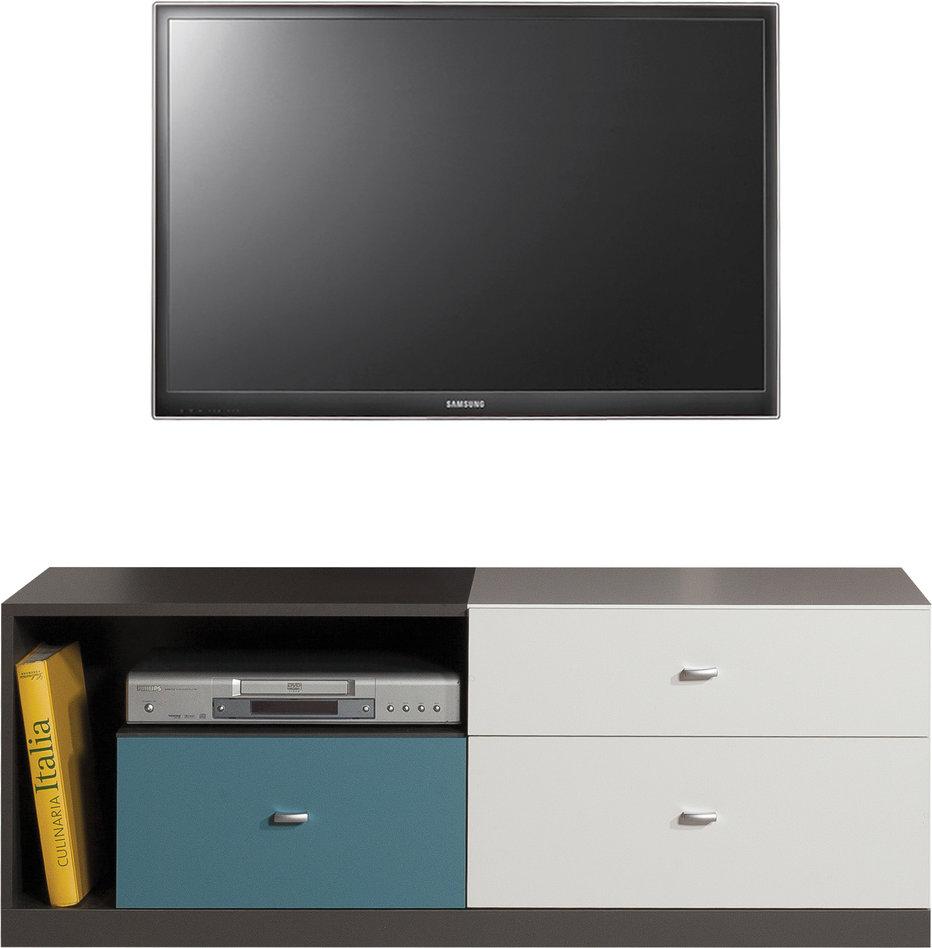 Meblar TV stolík TABLO TA8 Farba: Grafit/biela/atlantic